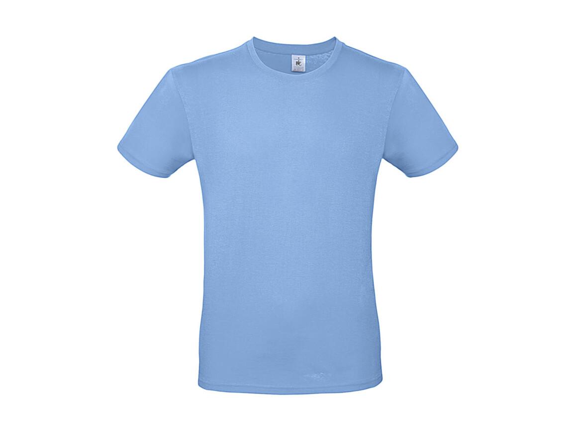 B & C #E150 T-Shirt, Sky Blue, M bedrucken, Art.-Nr. 015423202