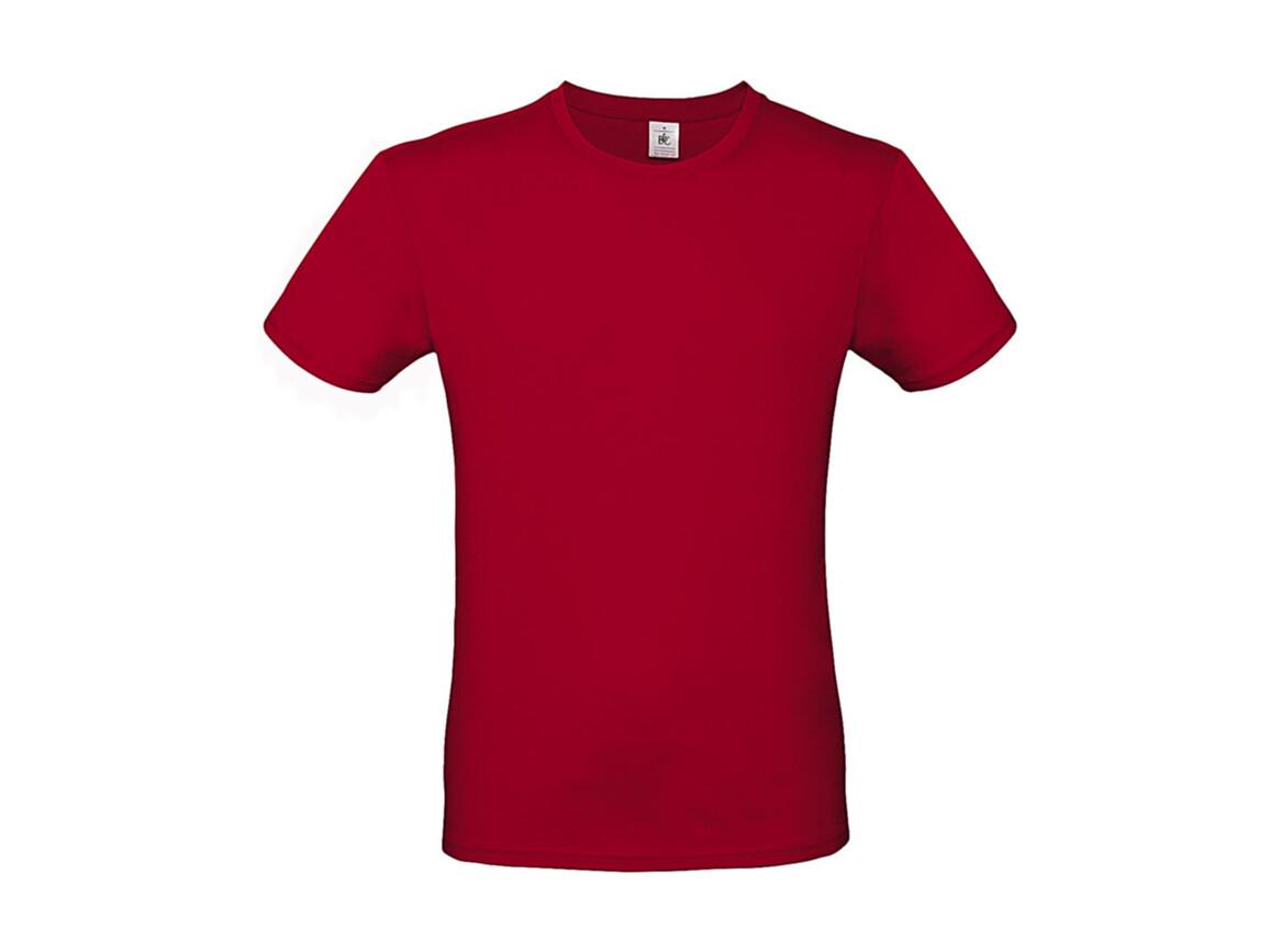 B & C #E150 T-Shirt, Deep Red, M bedrucken, Art.-Nr. 015424062