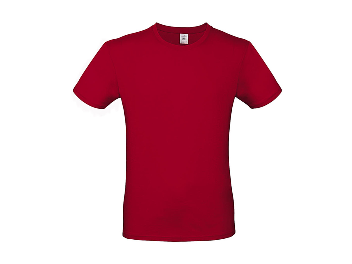 B & C #E150 T-Shirt, Deep Red, XL bedrucken, Art.-Nr. 015424064
