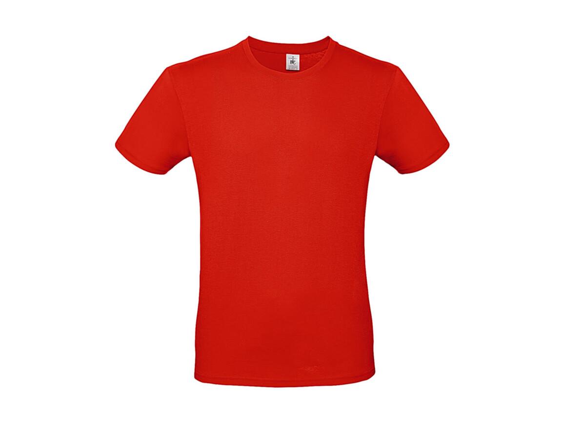 B & C #E150 T-Shirt, Fire Red, XS bedrucken, Art.-Nr. 015424070