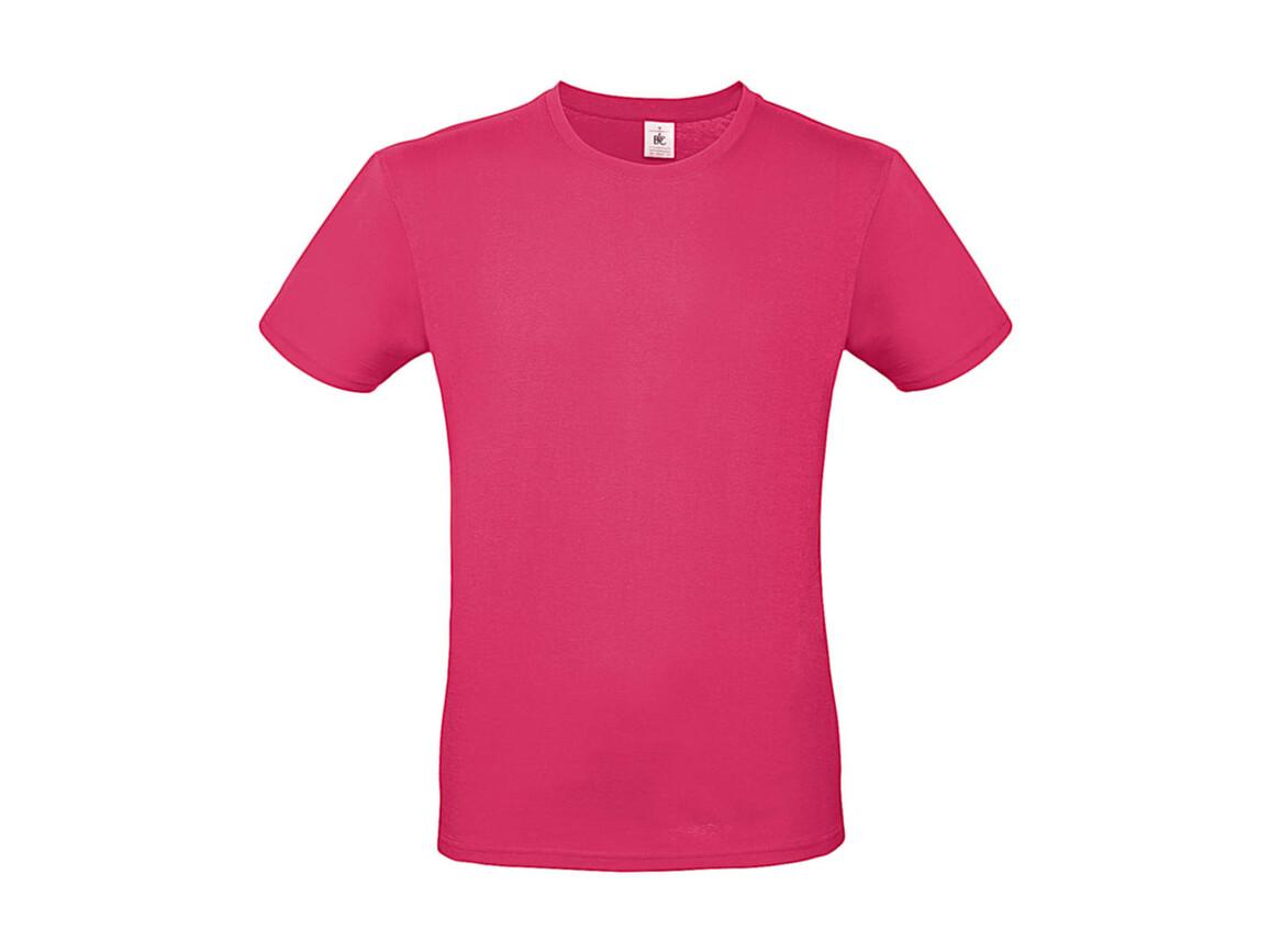 B & C #E150 T-Shirt, Fuchsia, M bedrucken, Art.-Nr. 015424182