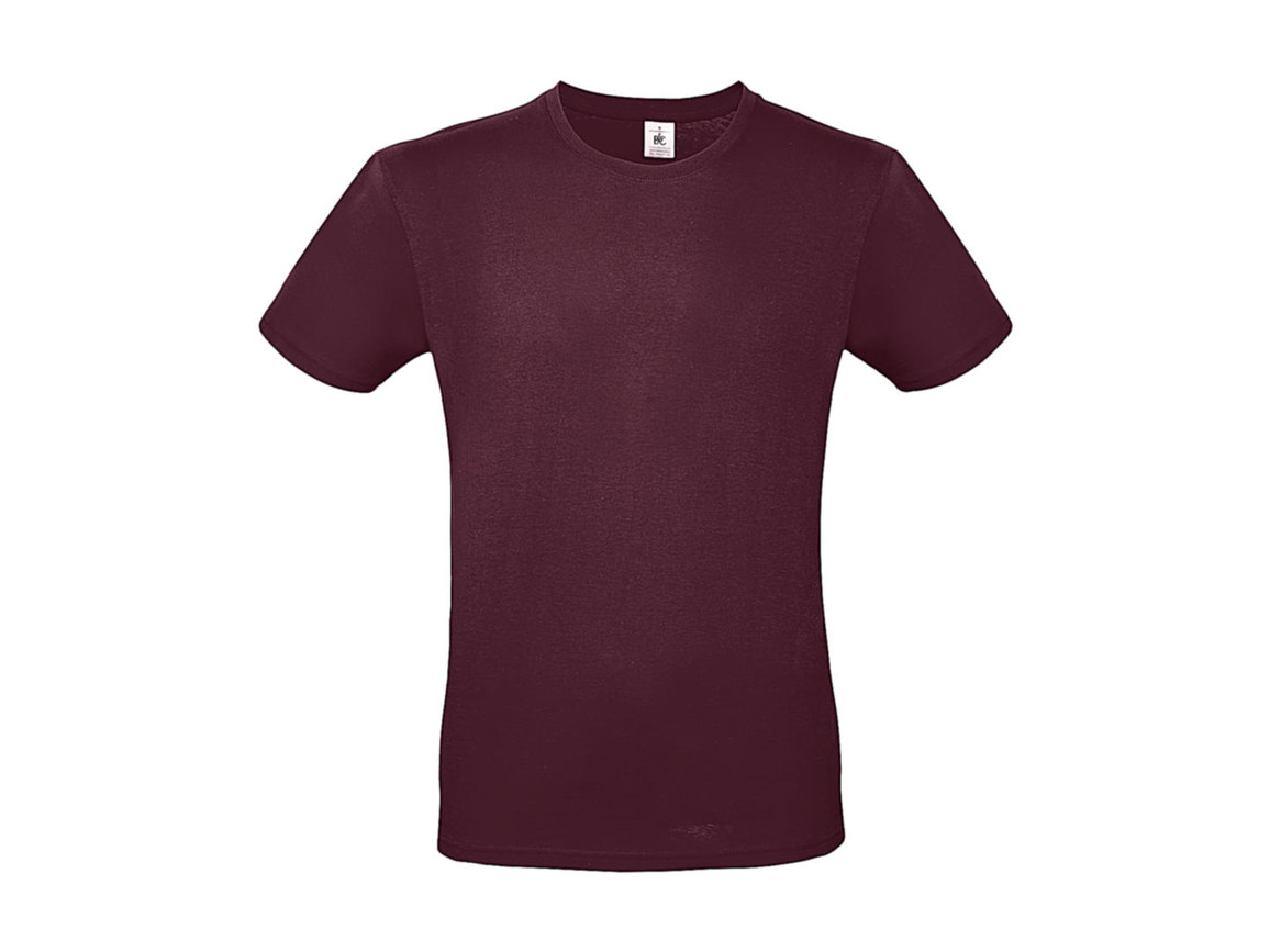 B & C #E150 T-Shirt, Burgundy, 2XL bedrucken, Art.-Nr. 015424485