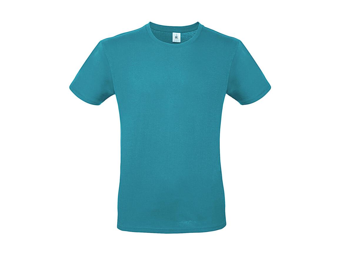 B & C #E150 T-Shirt, Real Turquoise, M bedrucken, Art.-Nr. 015425332