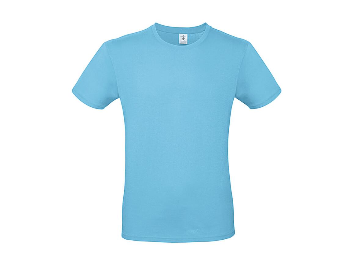 B & C #E150 T-Shirt, Turquoise, XL bedrucken, Art.-Nr. 015425434