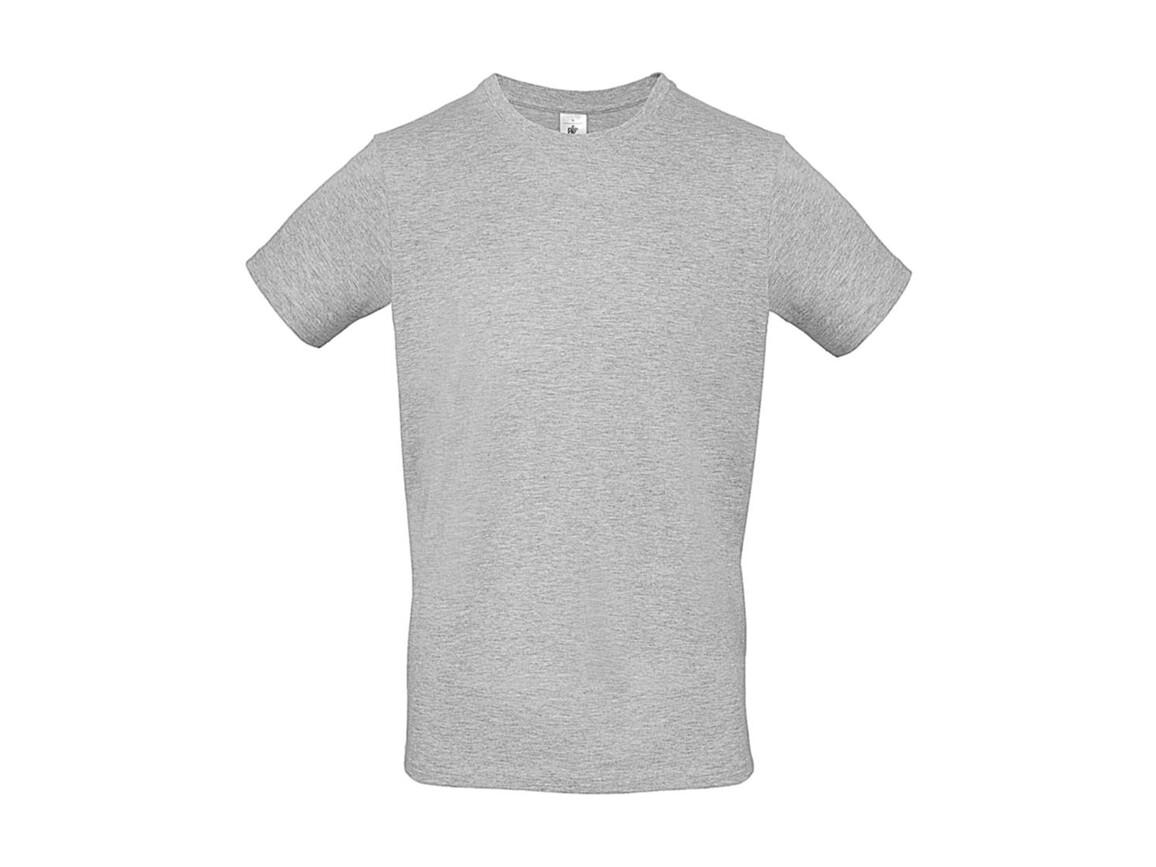 B & C #E150 T-Shirt, Ash, M bedrucken, Art.-Nr. 015427032