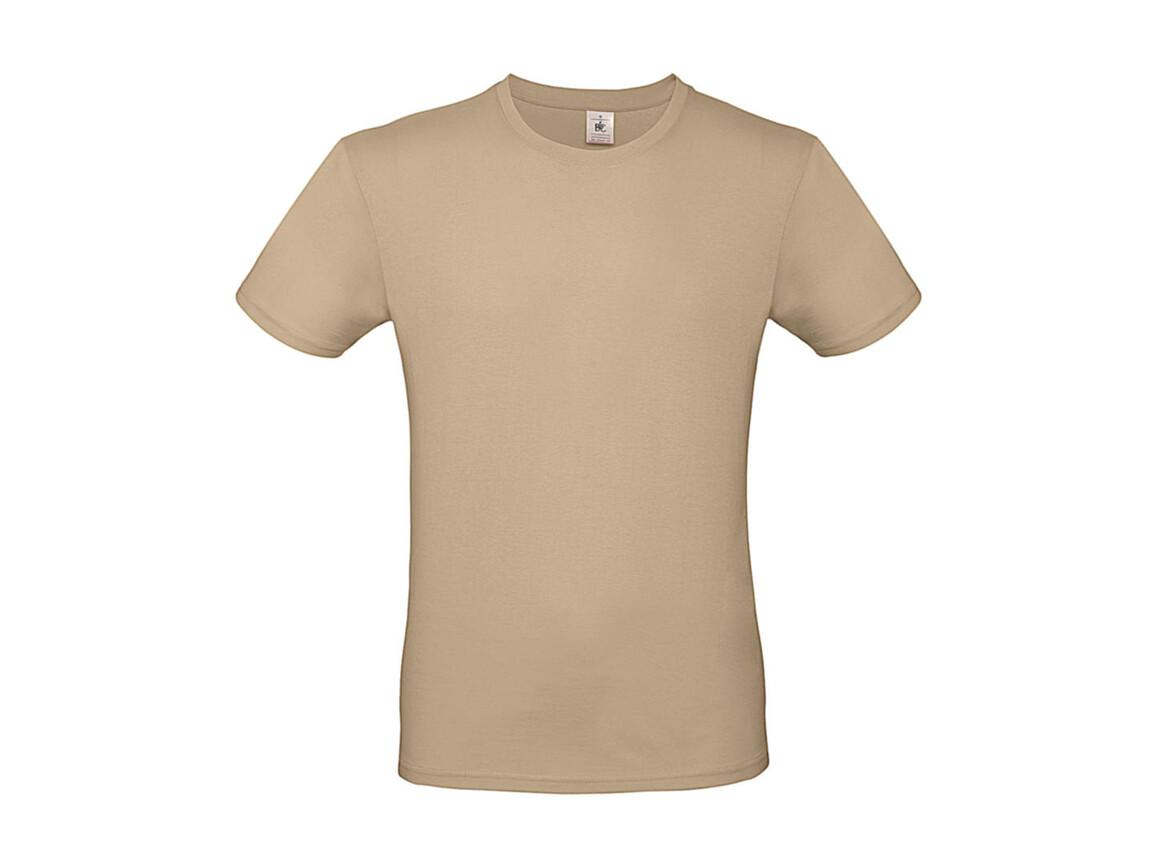 B & C #E150 T-Shirt, Sand, M bedrucken, Art.-Nr. 015427412