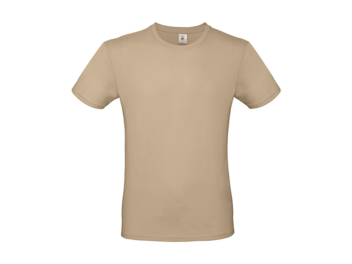 B & C #E150 T-Shirt, Sand, XL bedrucken, Art.-Nr. 015427414