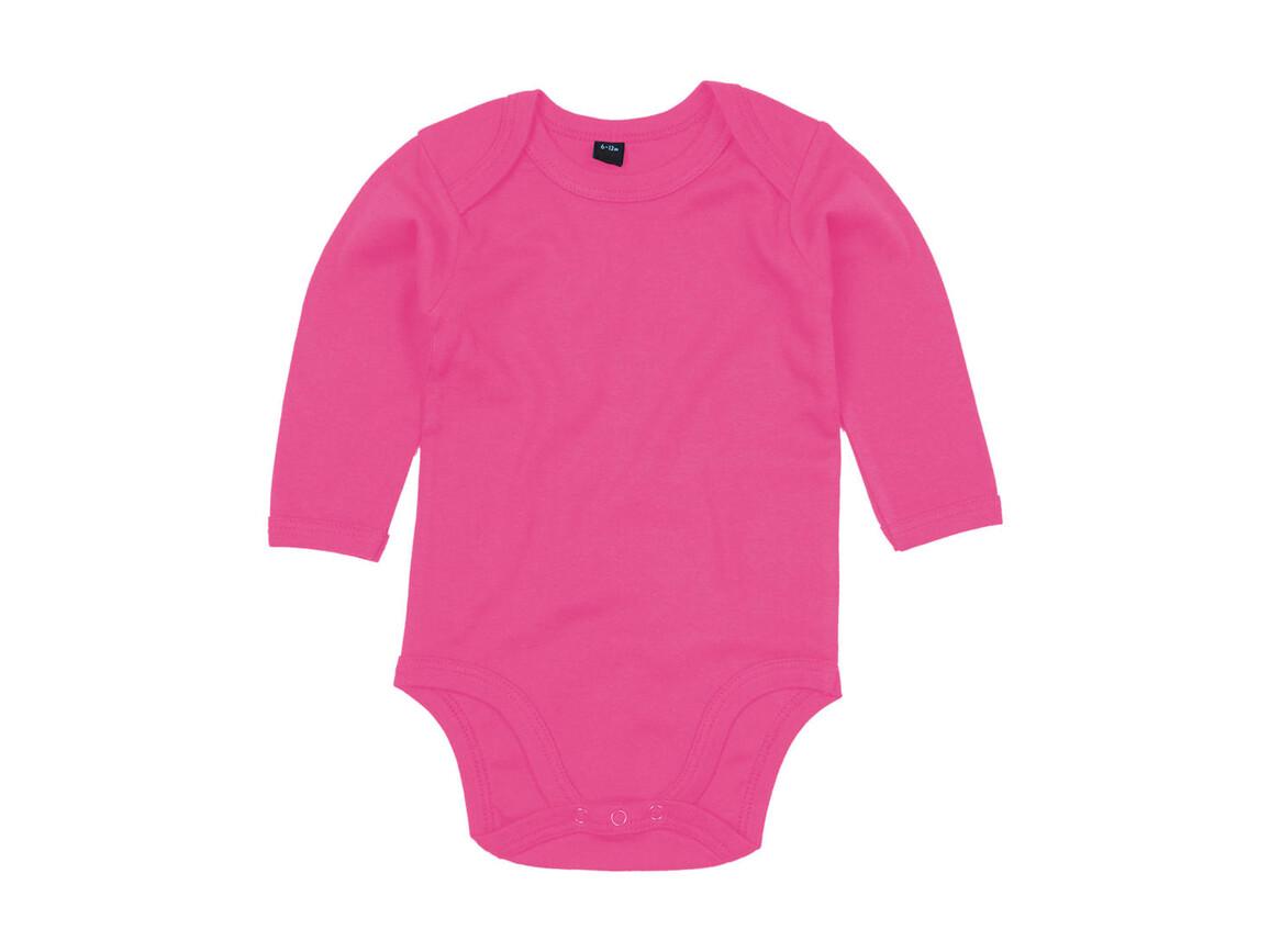 BabyBugz Baby Organic LS Bodysuit, Fuchsia, 12-18 bedrucken, Art.-Nr. 015474394