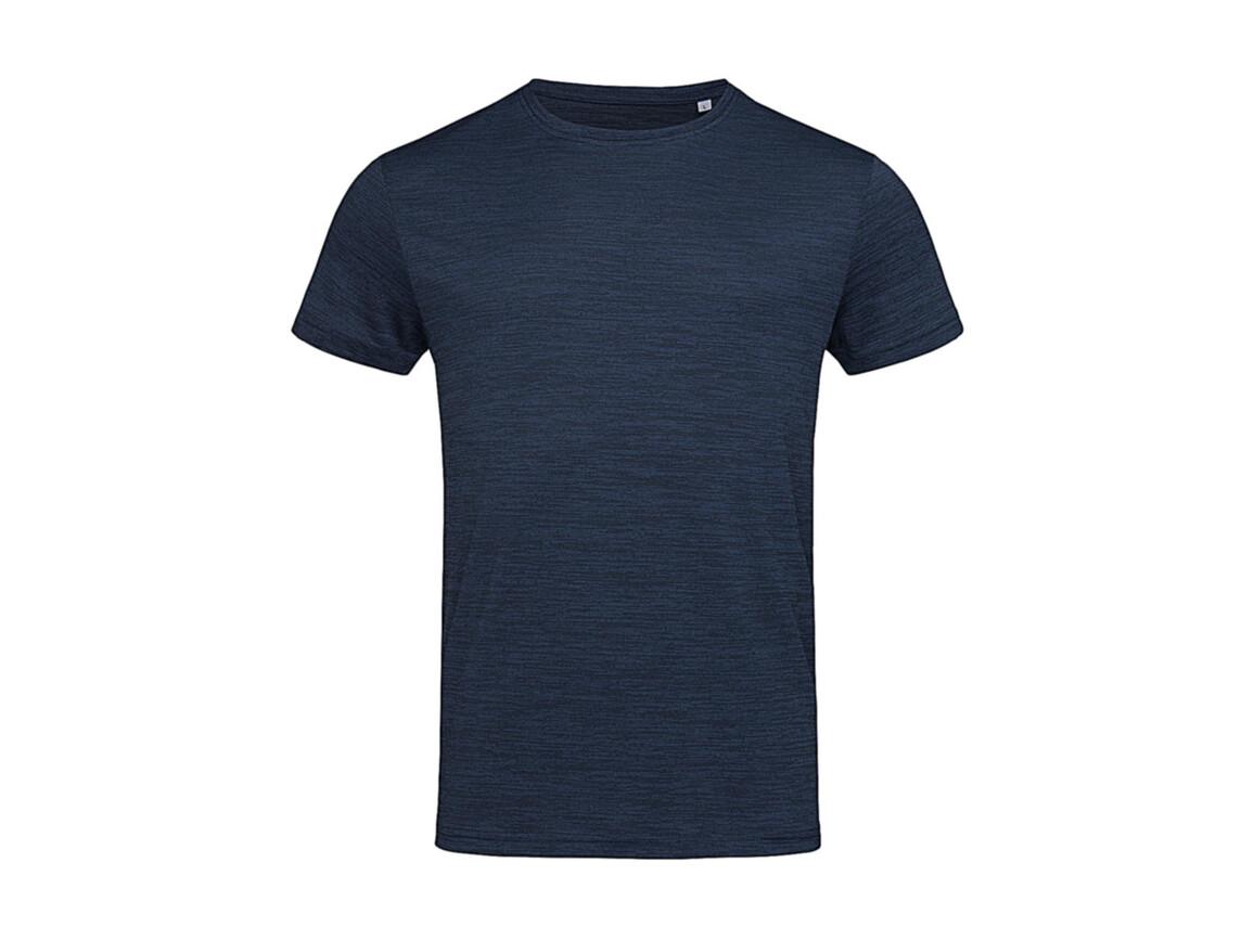 Stedman Active Intense Tech T-Shirt, Marina Heather, L bedrucken, Art.-Nr. 016052185