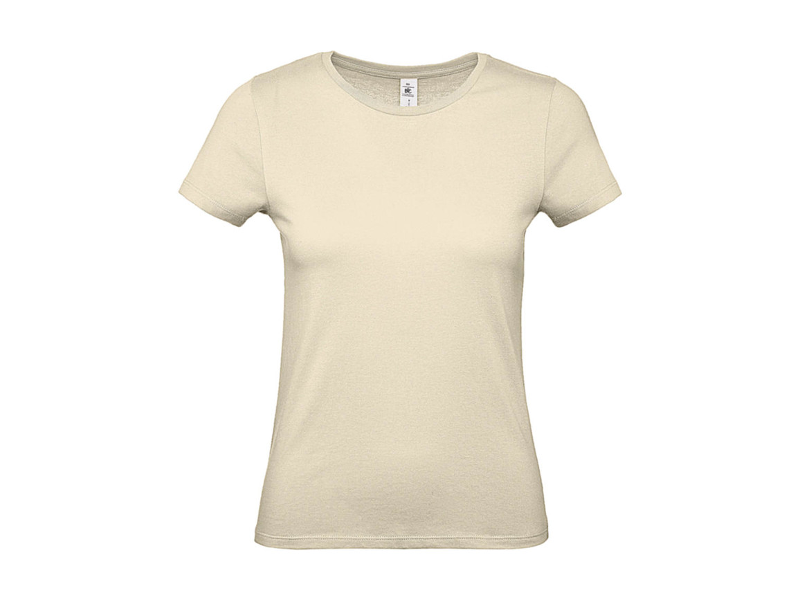B & C #E150 /women T-Shirt, Natural, M bedrucken, Art.-Nr. 016420084