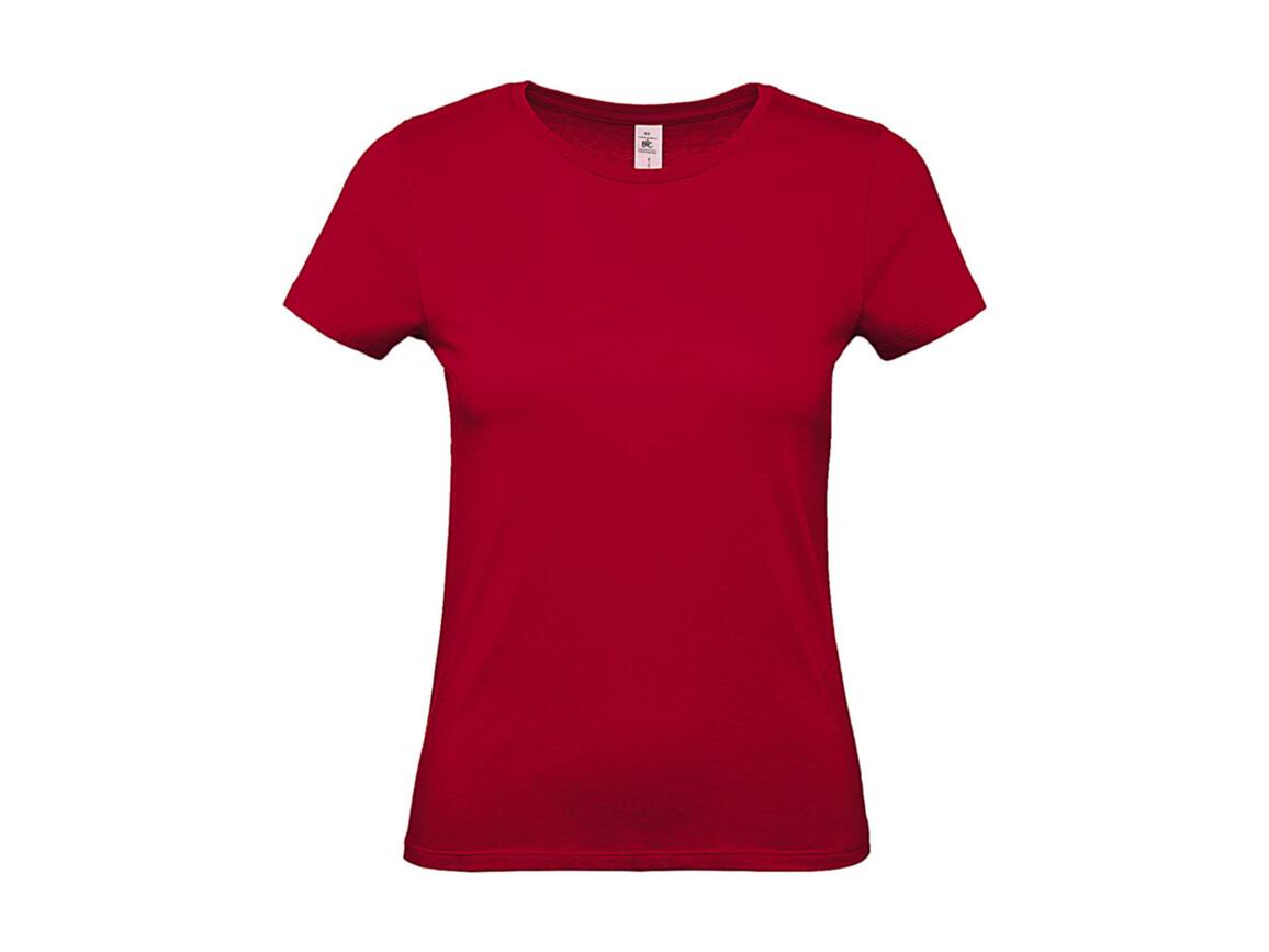 B & C #E150 /women T-Shirt, Deep Red, M bedrucken, Art.-Nr. 016424064