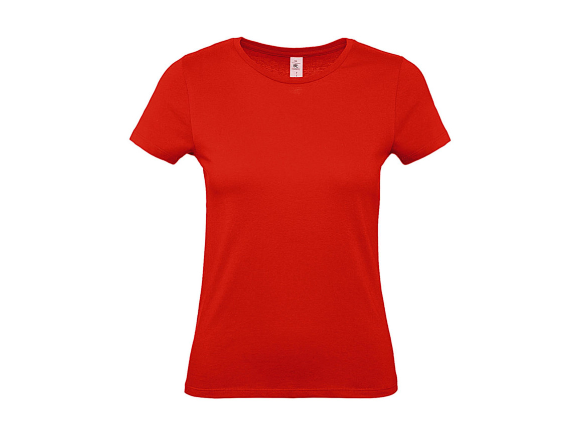 B & C #E150 /women T-Shirt, Fire Red, L bedrucken, Art.-Nr. 016424075