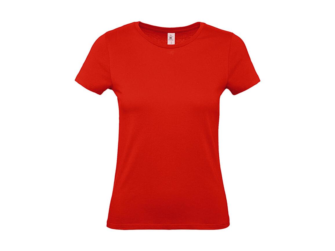 B & C #E150 /women T-Shirt, Fire Red, M bedrucken, Art.-Nr. 016424074
