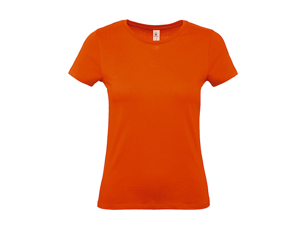 B & C #E150 /women T-Shirt, Orange, S bedrucken, Art.-Nr. 016424103