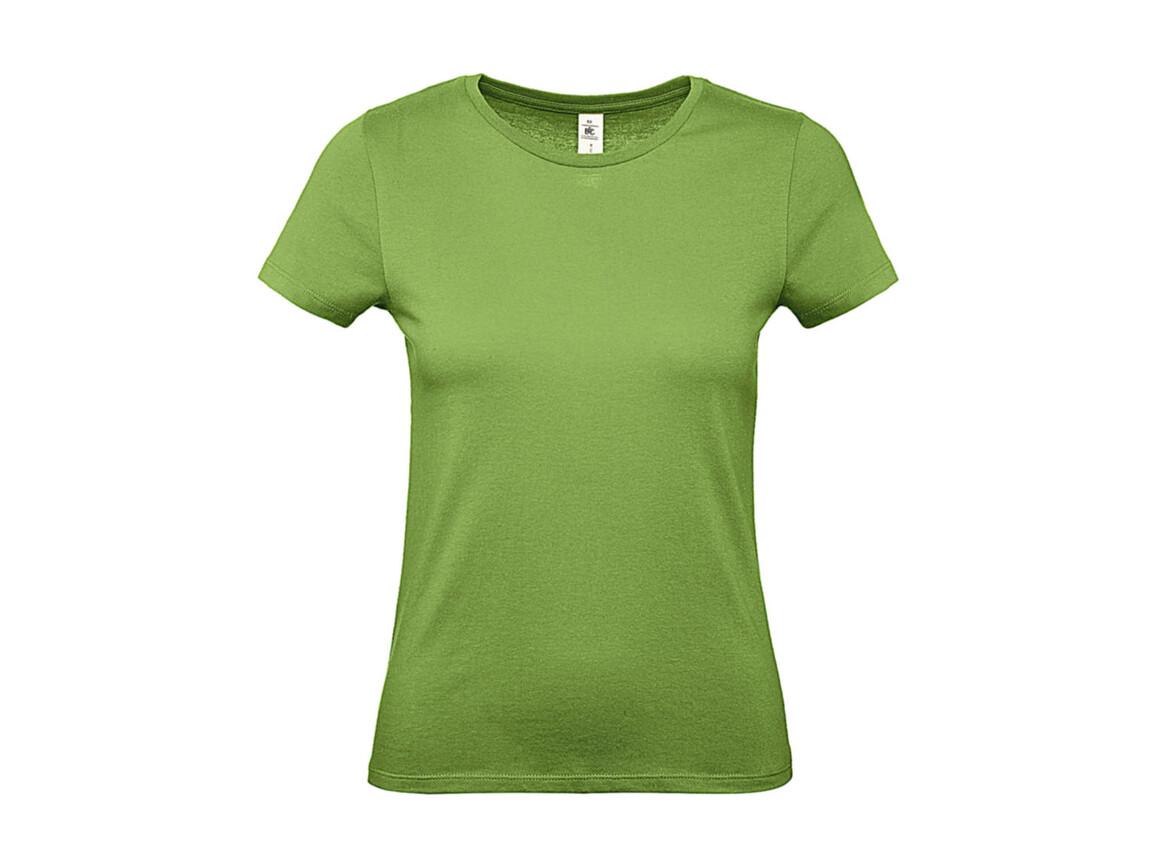 B & C #E150 /women T-Shirt, Pistacho, L bedrucken, Art.-Nr. 016425505