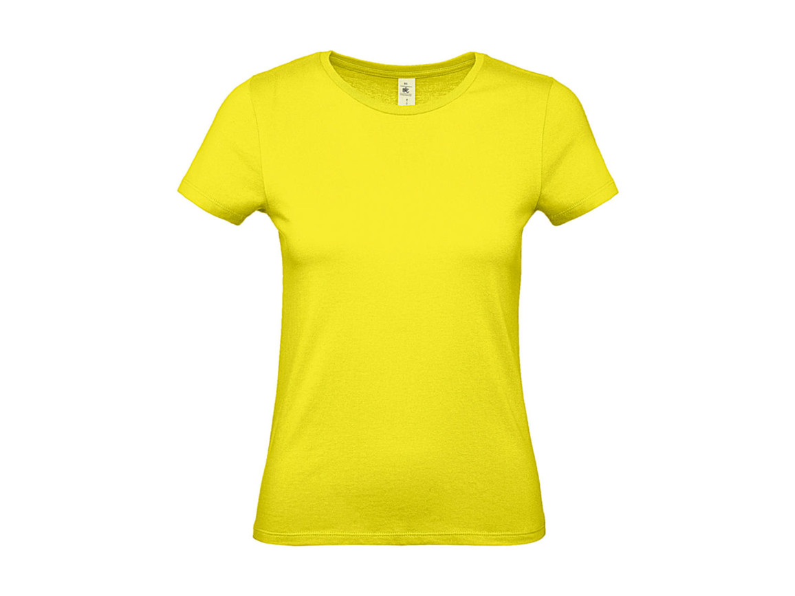 B & C #E150 /women T-Shirt, Solar Yellow, XS bedrucken, Art.-Nr. 016426072