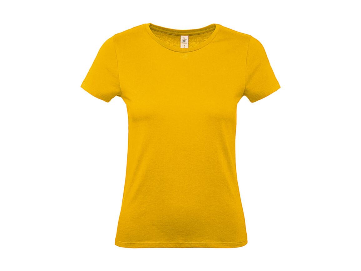 B & C #E150 /women T-Shirt, Gold, M bedrucken, Art.-Nr. 016426434