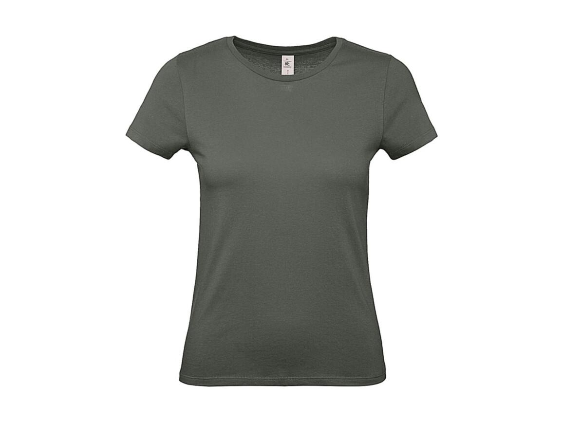 B & C #E150 /women T-Shirt, Millenial Khaki, L bedrucken, Art.-Nr. 016427335