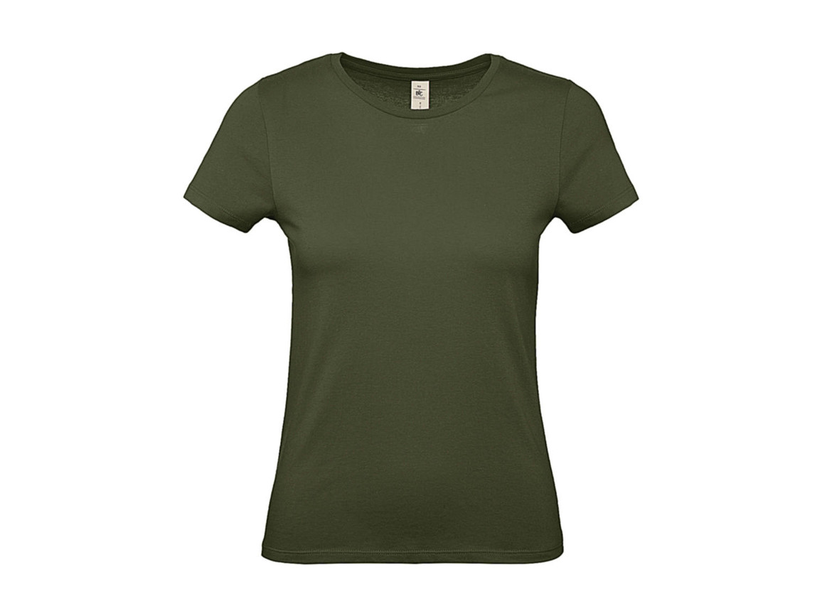 B & C #E150 /women T-Shirt, Urban Khaki, L bedrucken, Art.-Nr. 016427365