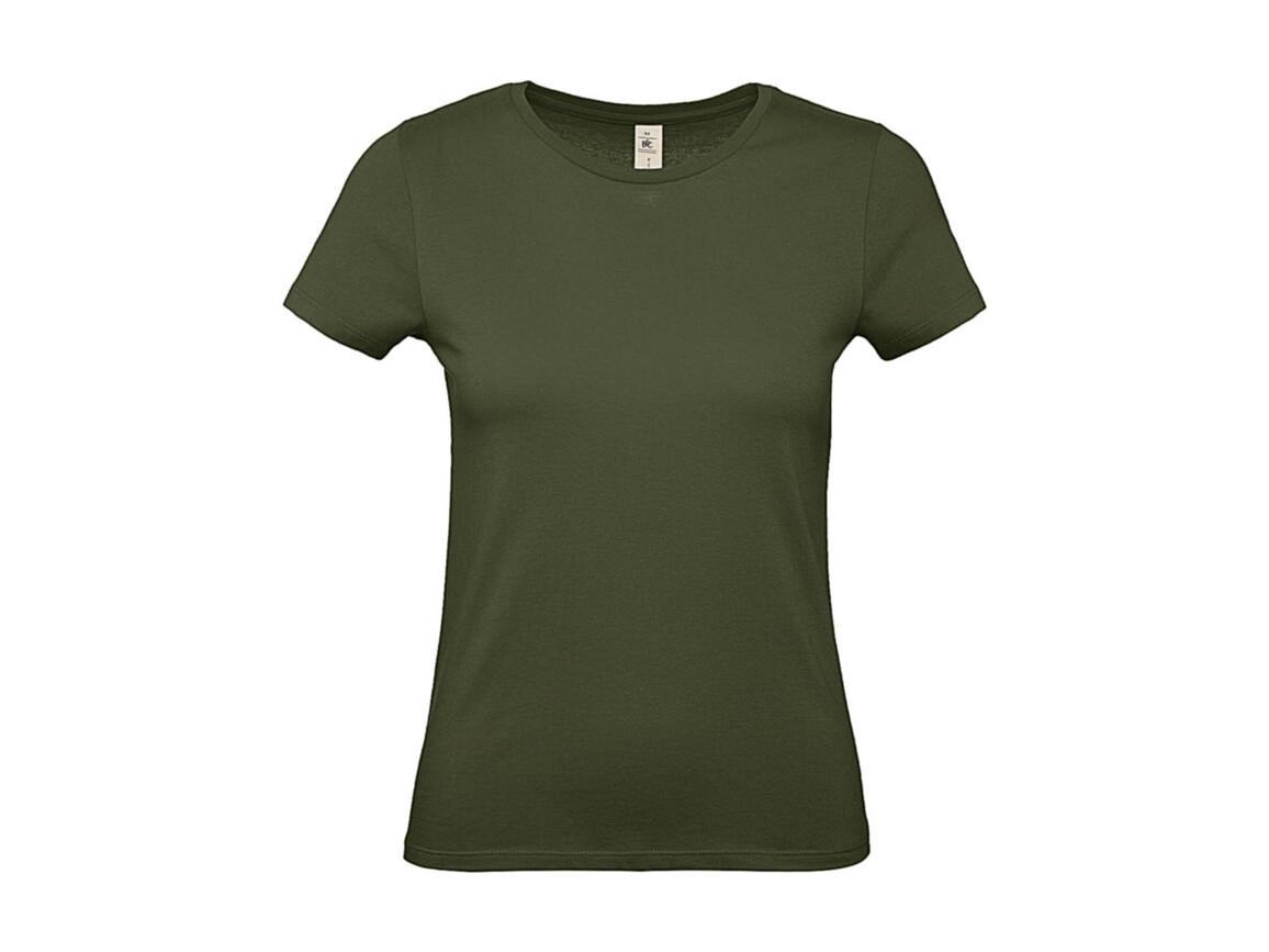 B & C #E150 /women T-Shirt, Urban Khaki, S bedrucken, Art.-Nr. 016427363