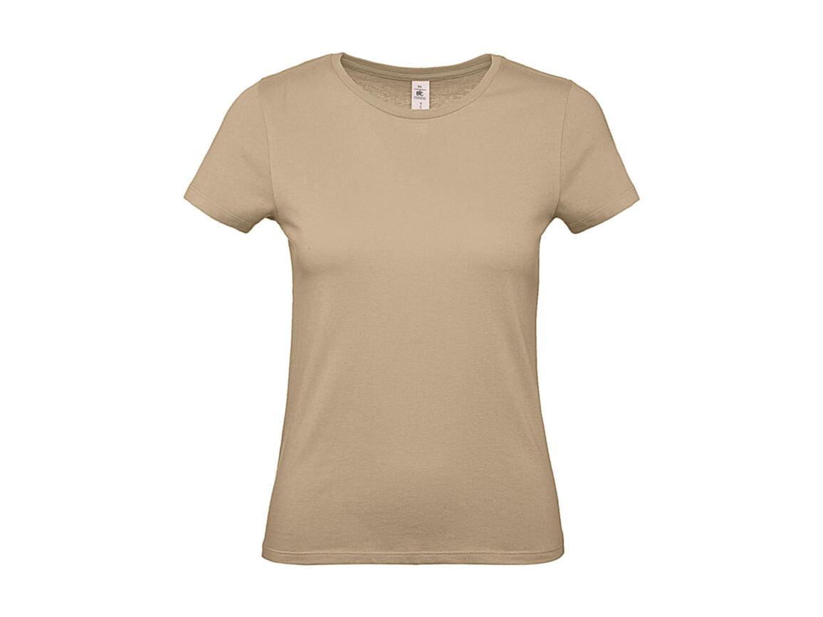 B & C #E150 /women T-Shirt, Sand, XS bedrucken, Art.-Nr. 016427412