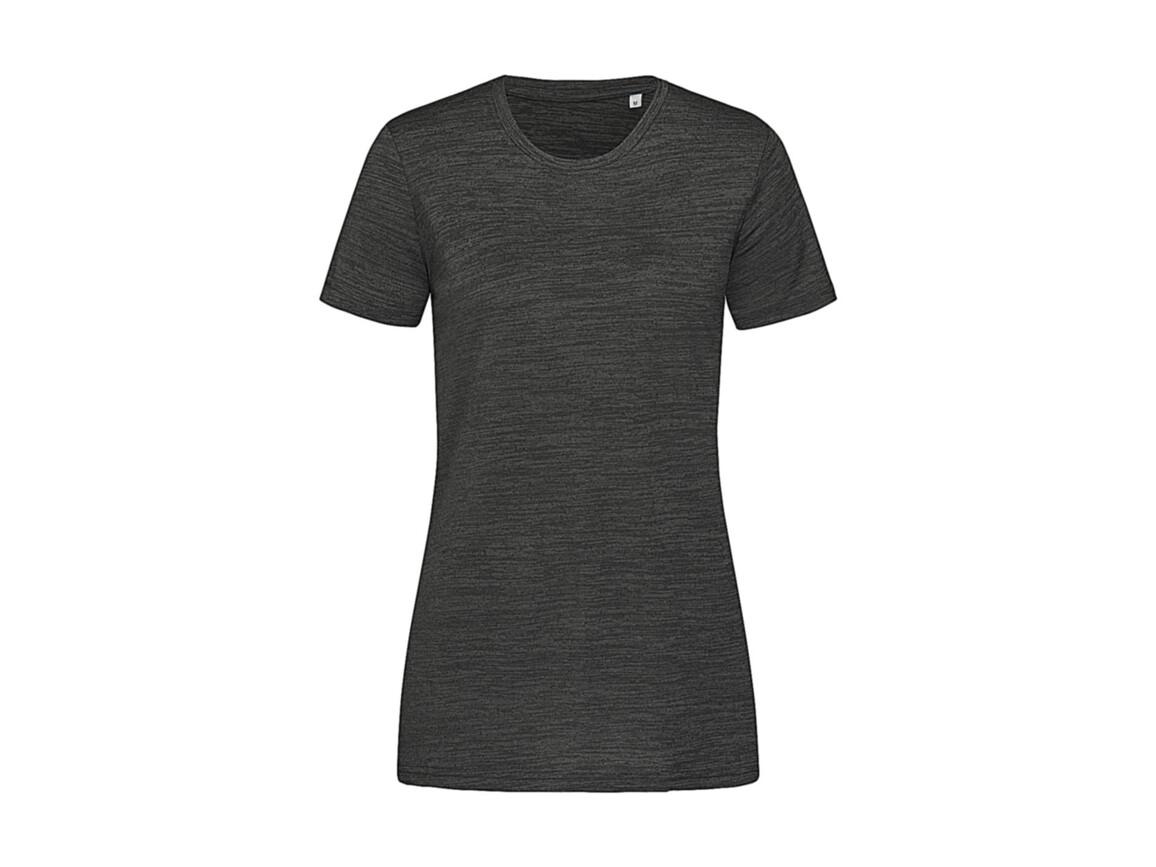 Stedman Women`s Active Intense Tech T-shirt, Anthra Heather, S bedrucken, Art.-Nr. 017051183