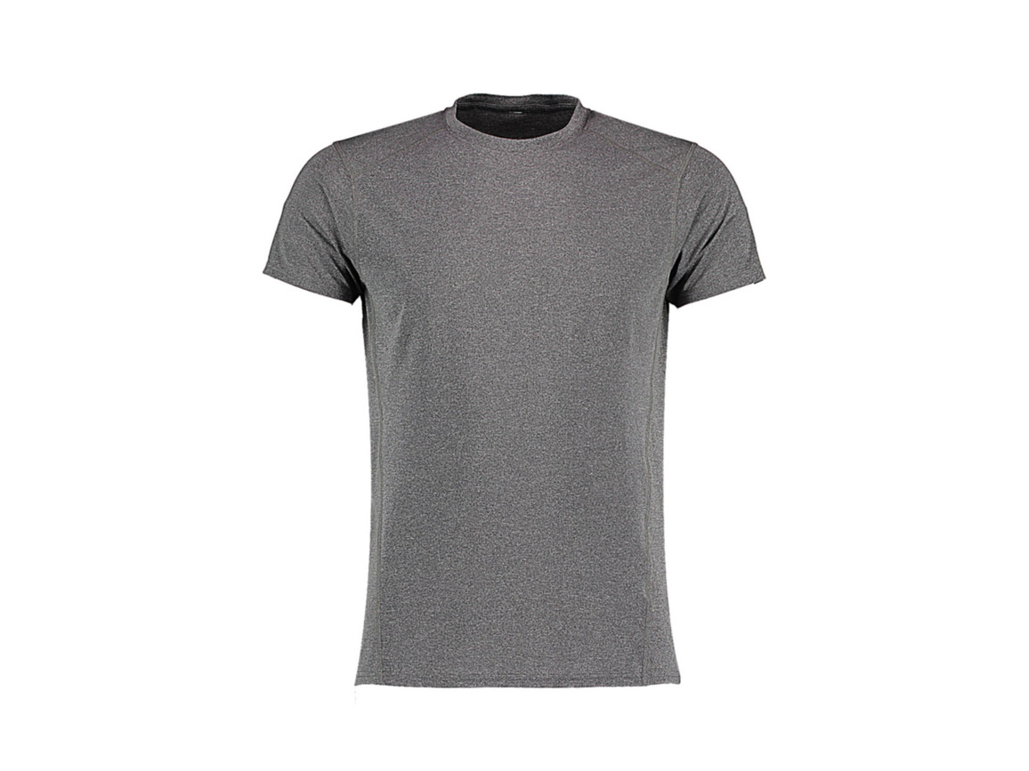Kustom Kit Fashion Fit Compact Stretch T, Grey Melange, L bedrucken, Art.-Nr. 017111135