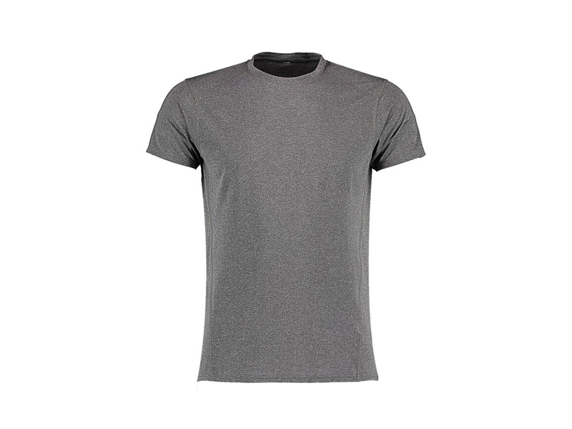 Kustom Kit Fashion Fit Compact Stretch T, Grey Melange, XS bedrucken, Art.-Nr. 017111132