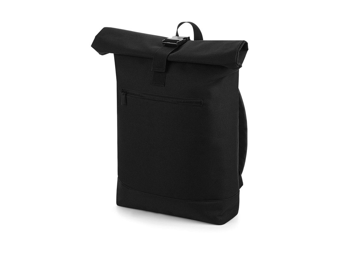 Bag Base Roll-Top Backpack, Black, One Size bedrucken, Art.-Nr. 017291010