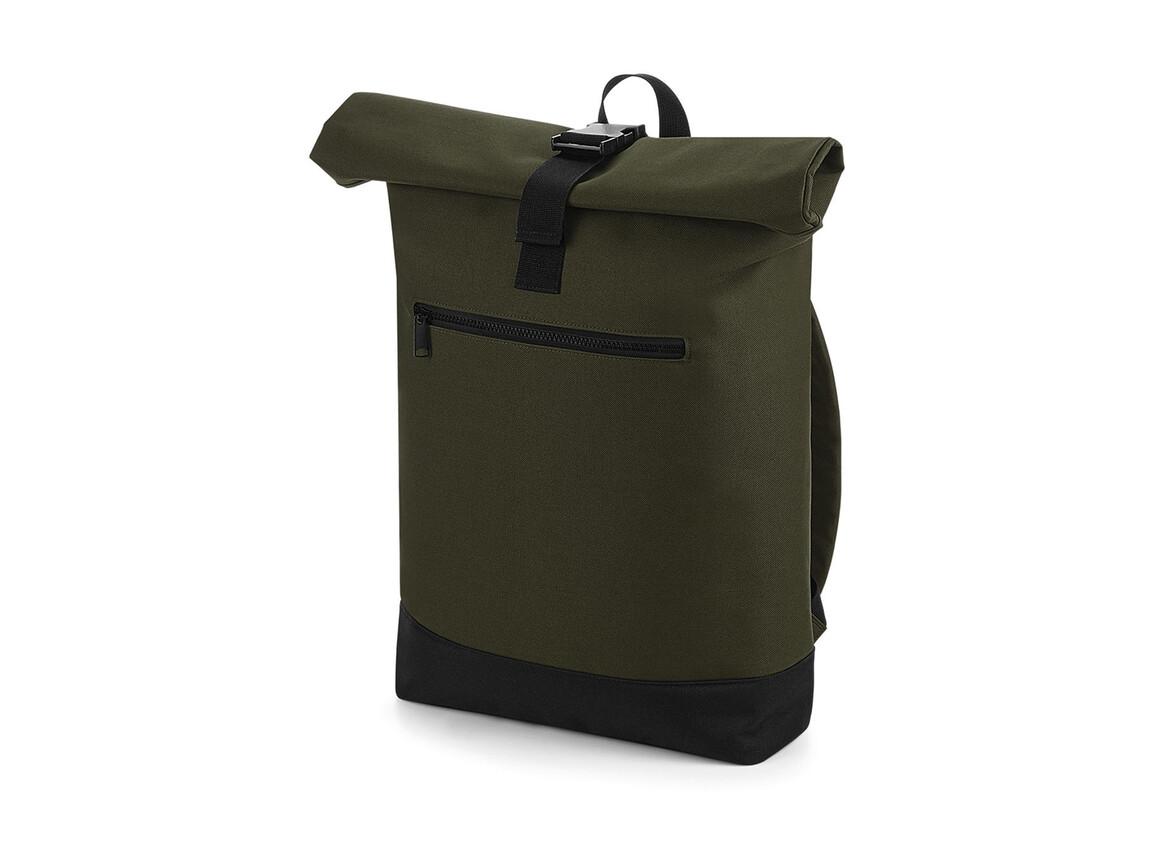 Bag Base Roll-Top Backpack, Military Green, One Size bedrucken, Art.-Nr. 017295060