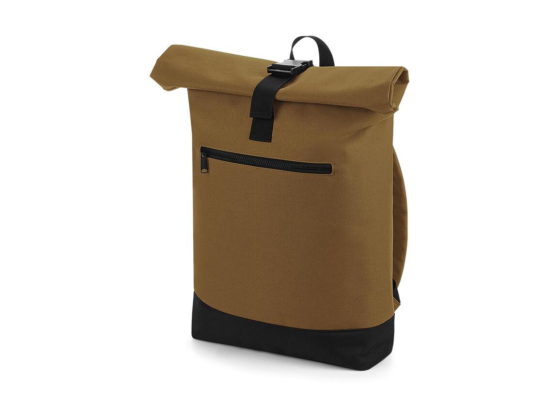 Bag Base Roll-Top Backpack, Caramel, One Size bedrucken, Art.-Nr. 017297400