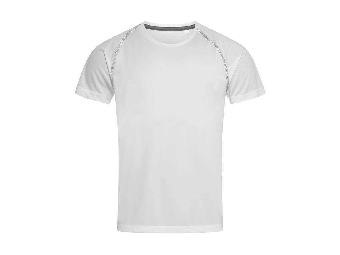 Stedman Active Team Raglan Men, White, XL bedrucken, Art.-Nr. 020050006