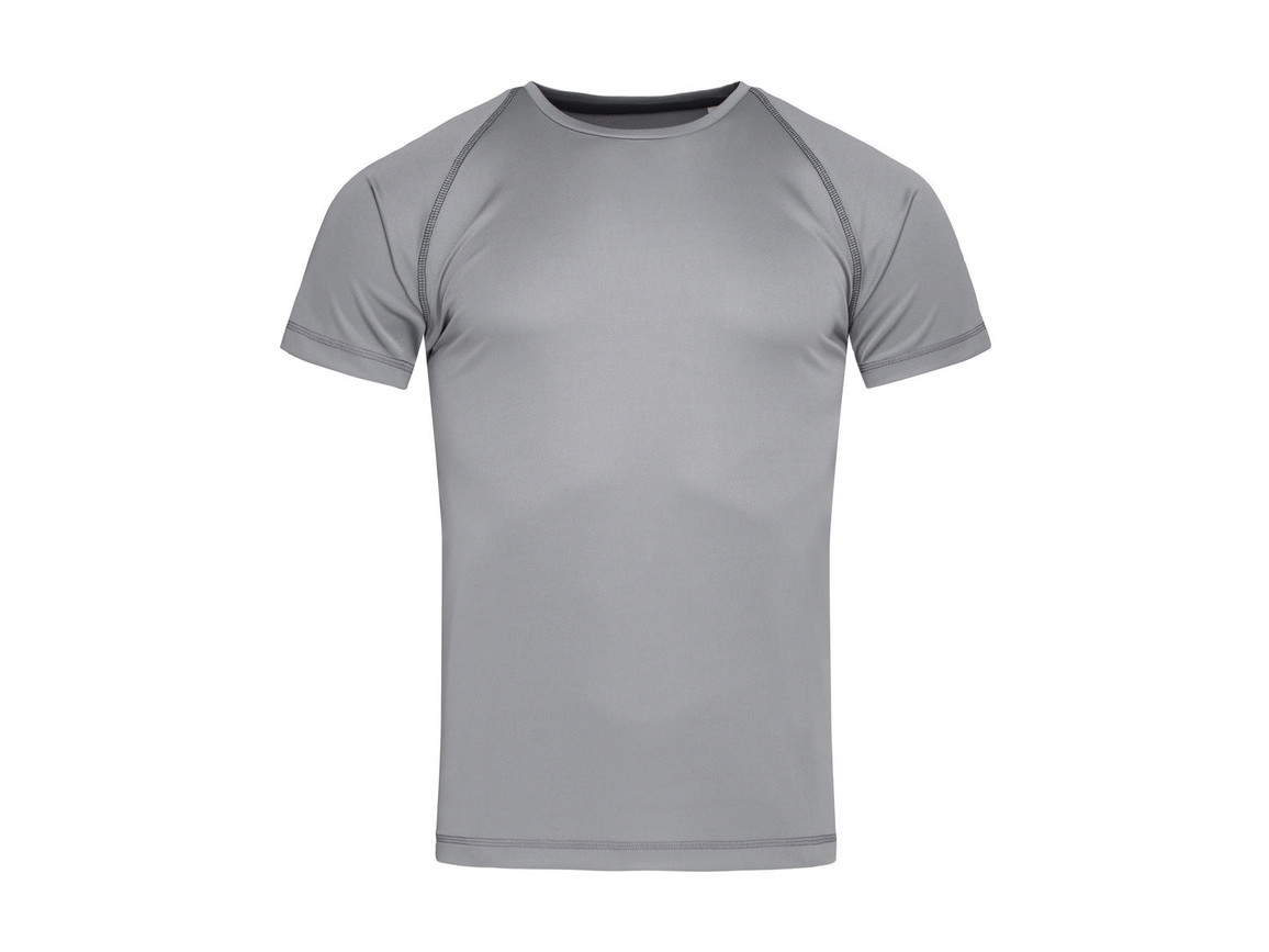Stedman Active Team Raglan Men, Silver Grey, M bedrucken, Art.-Nr. 020057134