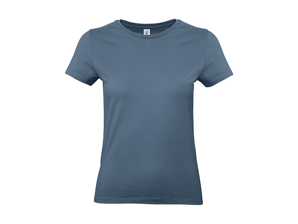 B & C #E190 /women T-Shirt, Stone Blue, M bedrucken, Art.-Nr. 020423364