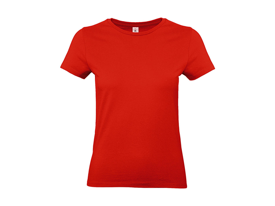 B & C #E190 /women T-Shirt, Fire Red, S bedrucken, Art.-Nr. 020424073