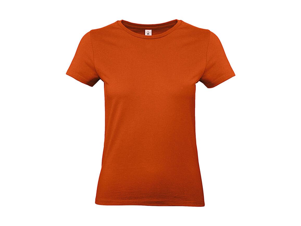B & C #E190 /women T-Shirt, Urban Orange, M bedrucken, Art.-Nr. 020424094