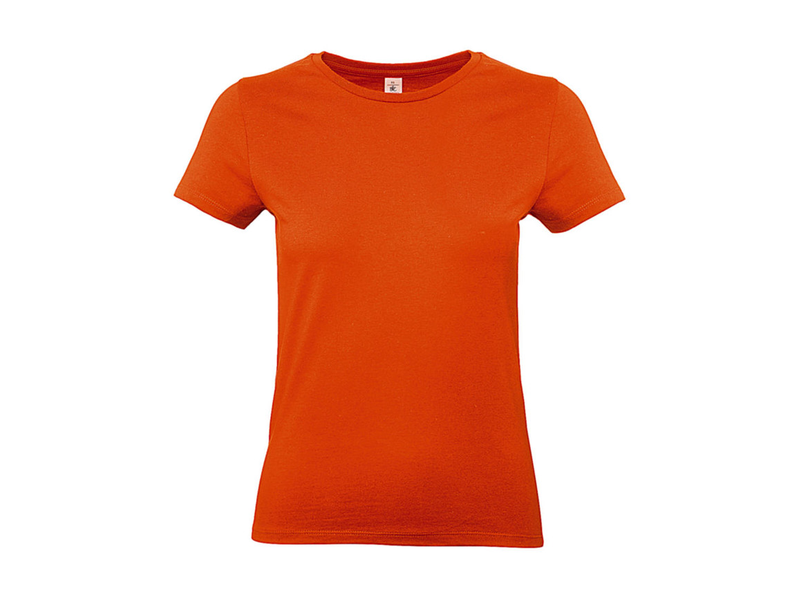 B & C #E190 /women T-Shirt, Orange, XS bedrucken, Art.-Nr. 020424102