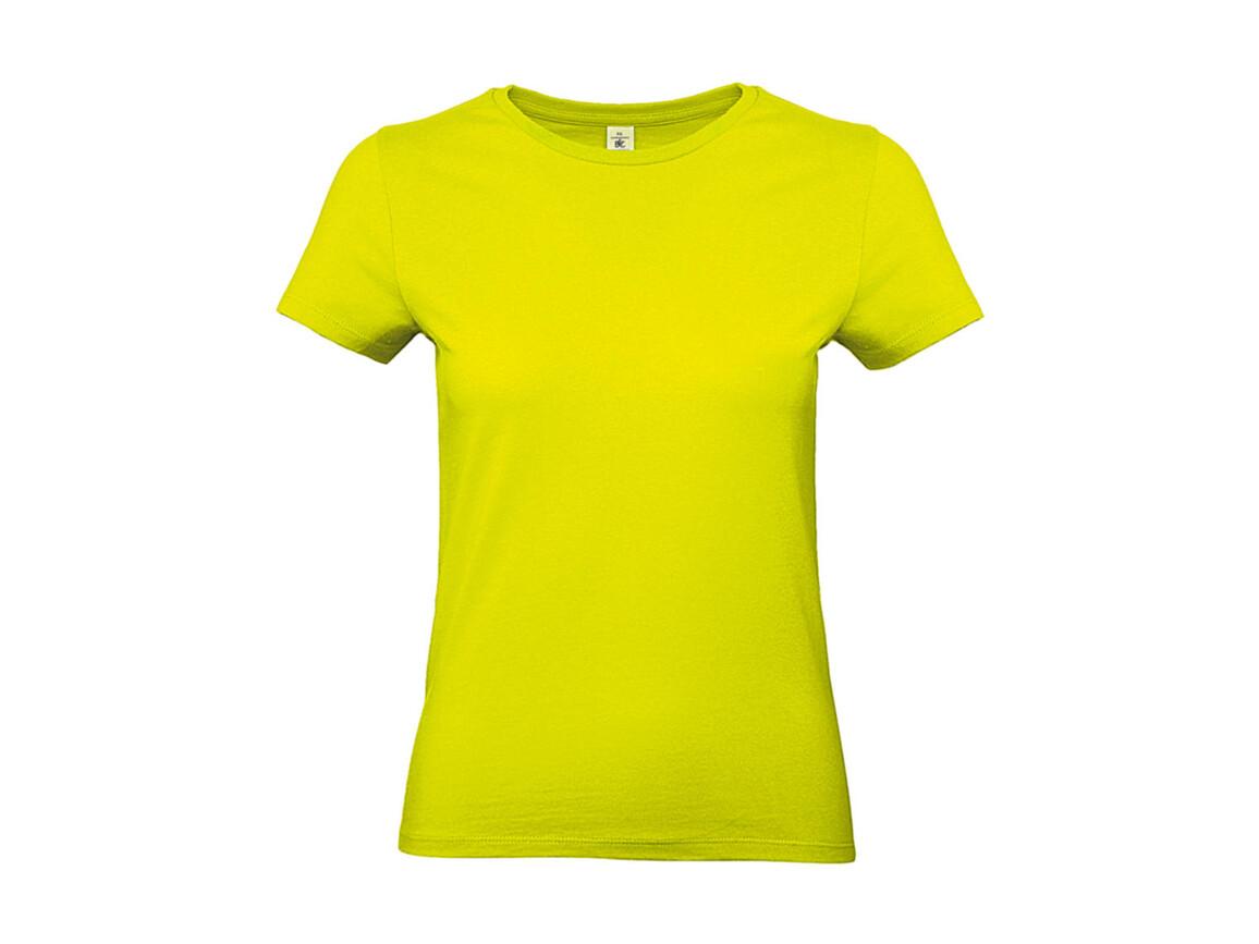 B & C #E190 /women T-Shirt, Pixel Lime, L bedrucken, Art.-Nr. 020425125