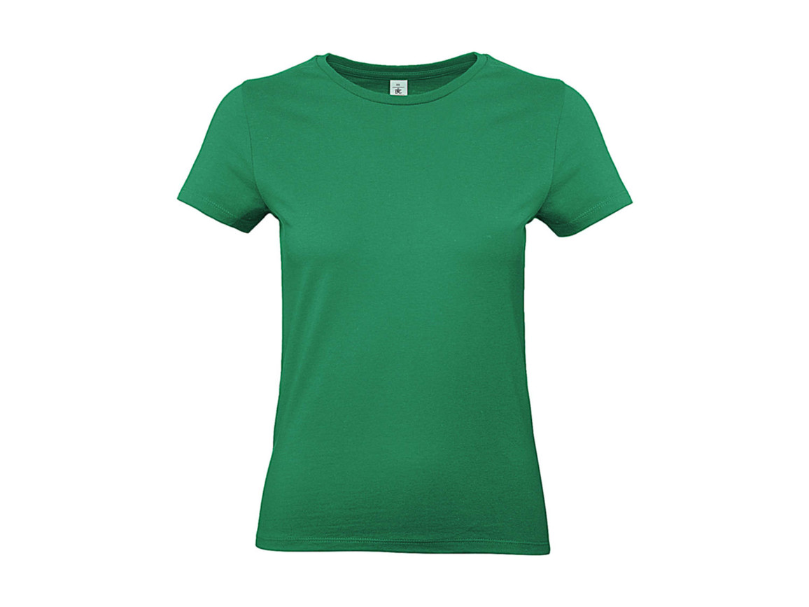 B & C #E190 /women T-Shirt, Kelly Green, L bedrucken, Art.-Nr. 020425185