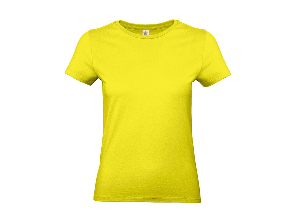 B & C #E190 /women T-Shirt, Solar Yellow, XS bedrucken, Art.-Nr. 020426072