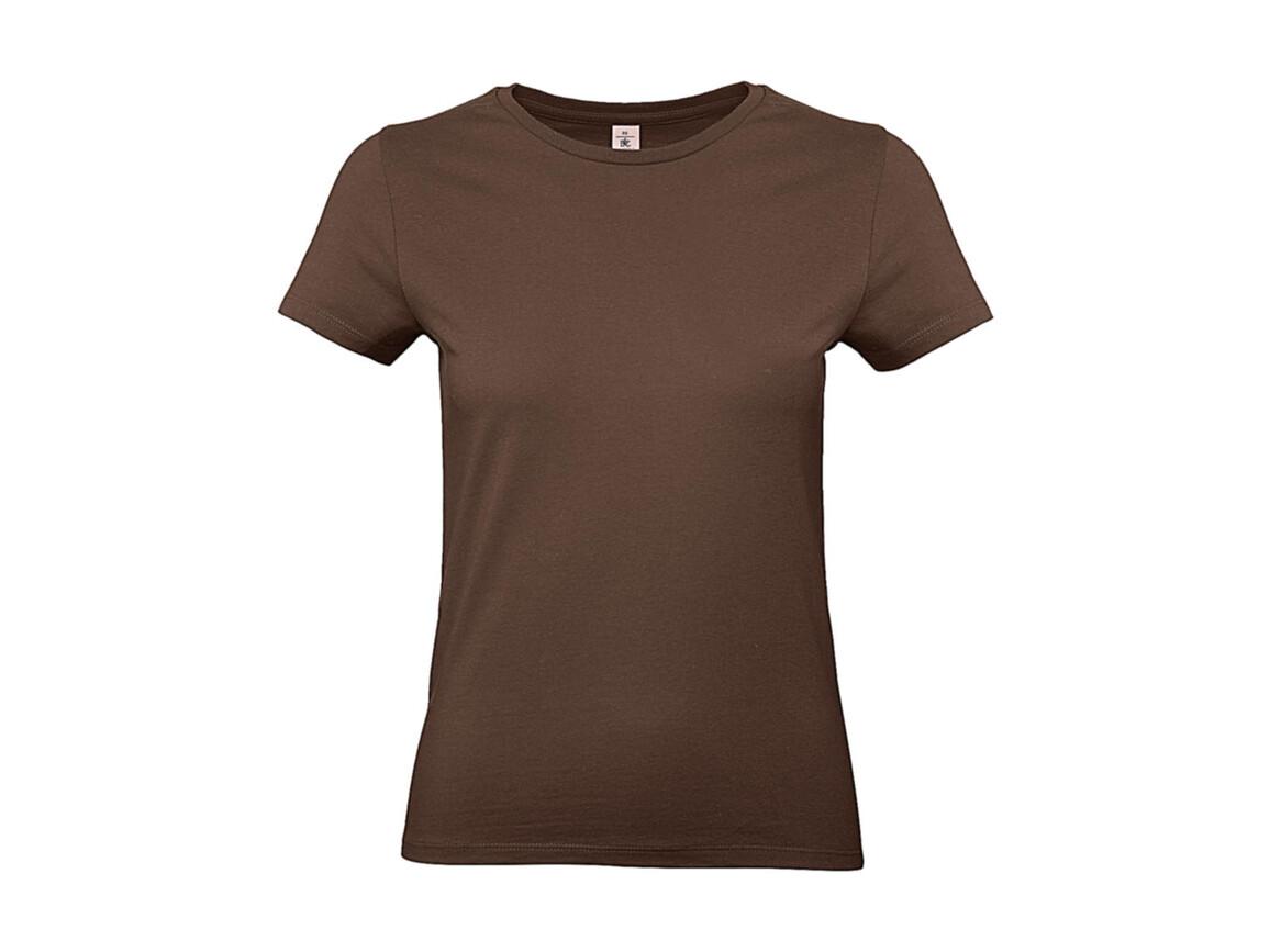 B & C #E190 /women T-Shirt, Chocolate, XL bedrucken, Art.-Nr. 020427016
