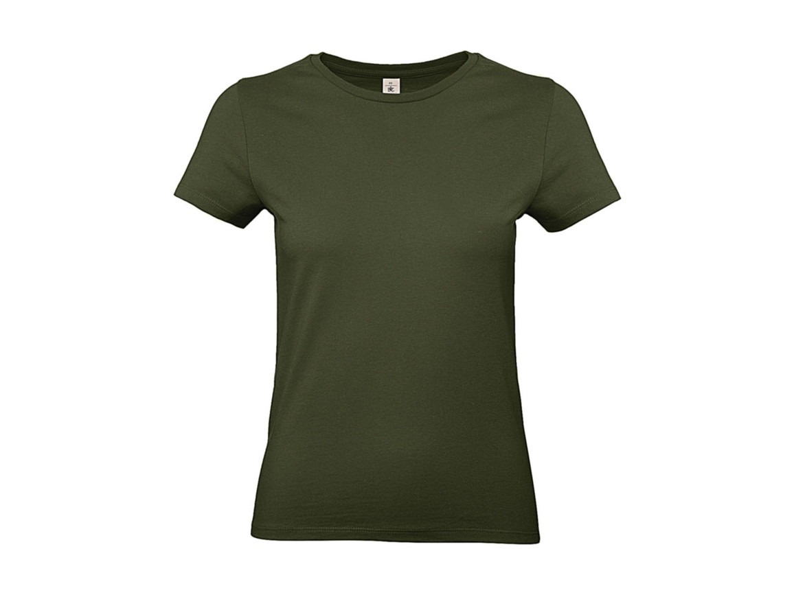 B & C #E190 /women T-Shirt, Urban Khaki, M bedrucken, Art.-Nr. 020427364