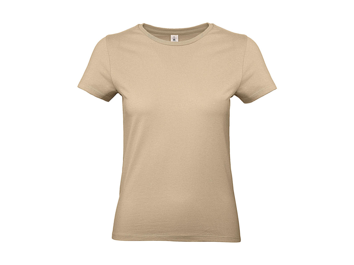 B & C #E190 /women T-Shirt, Sand, XS bedrucken, Art.-Nr. 020427412