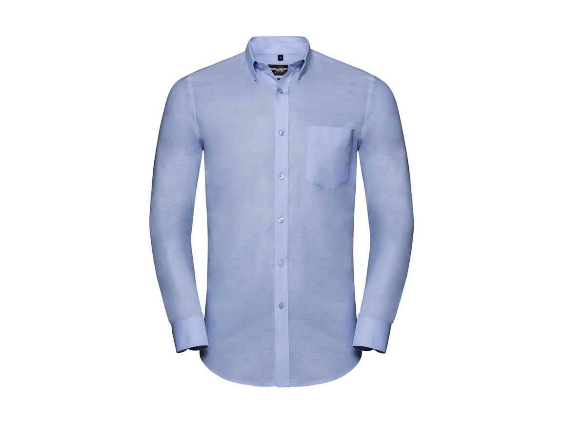 Russell Europe Men`s LS Tailored Button-Down Oxford Shirt, Oxford Blue, XL bedrucken, Art.-Nr. 021003266