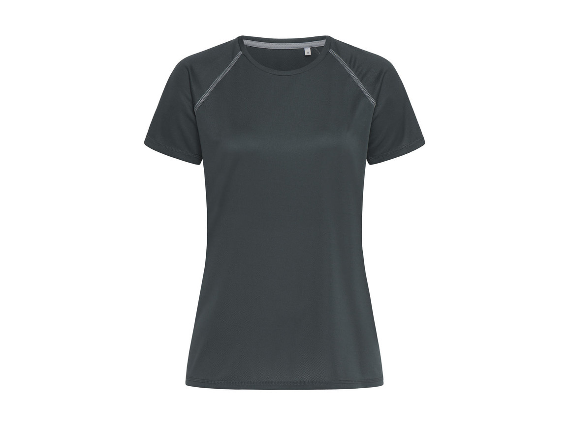Stedman Active Team Raglan Women, Granite Grey, S bedrucken, Art.-Nr. 021051193