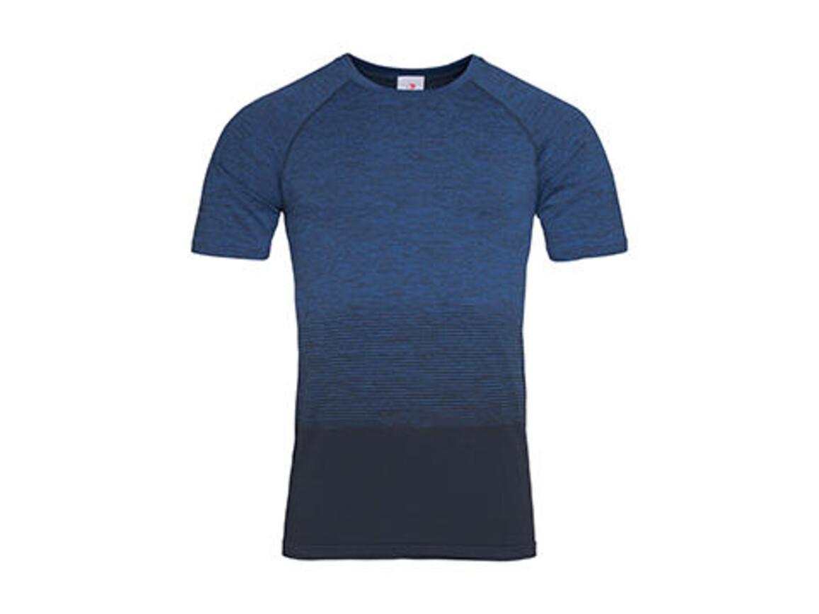 Stedman Active Seamless Raglan Flow Men, Blue Transition, S bedrucken, Art.-Nr. 022053093