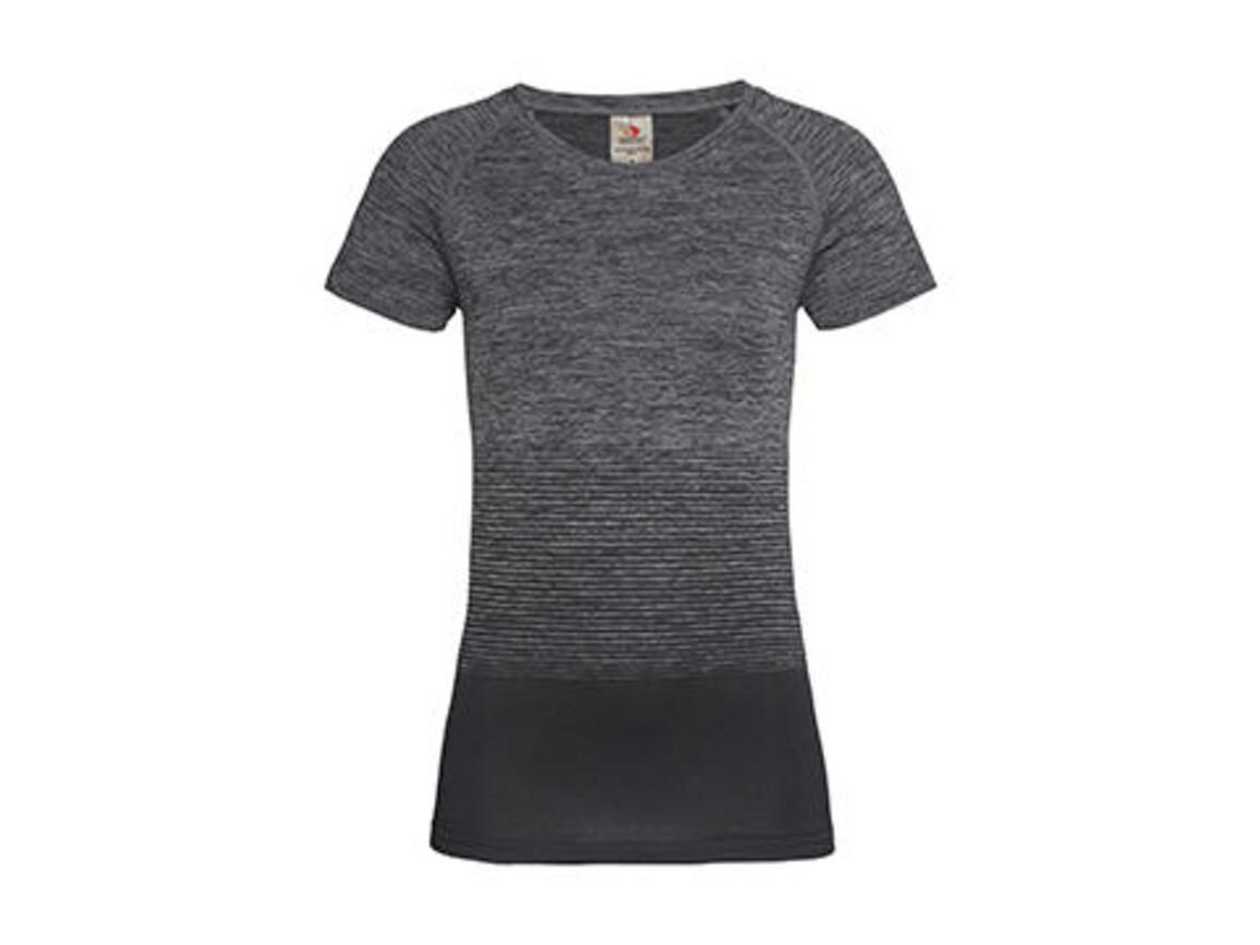 Stedman Active Seamless Raglan Flow Women, Dark Grey Transition, XL bedrucken, Art.-Nr. 023051616