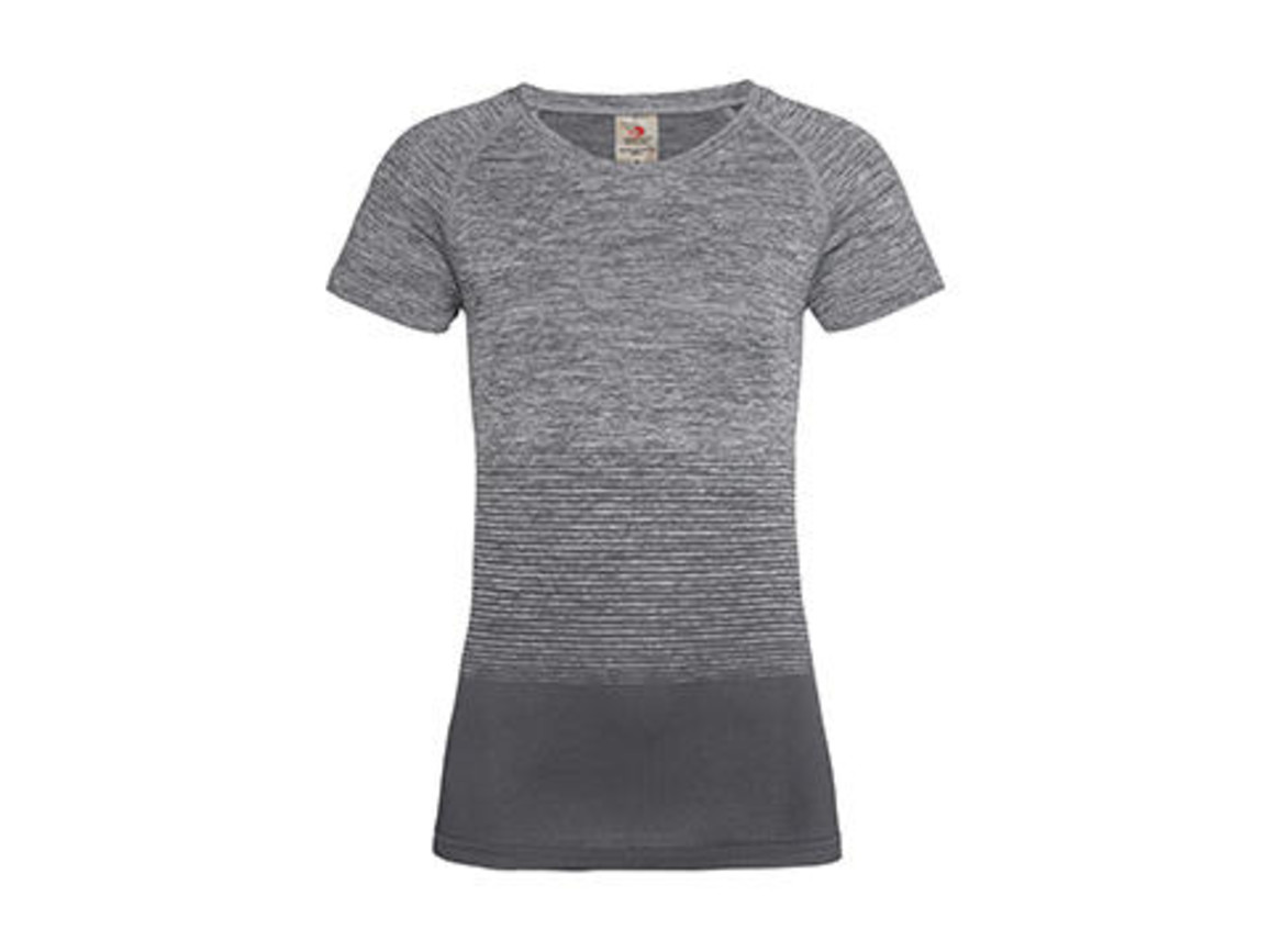 Stedman Active Seamless Raglan Flow Women, Light Grey Transition, S bedrucken, Art.-Nr. 023051623