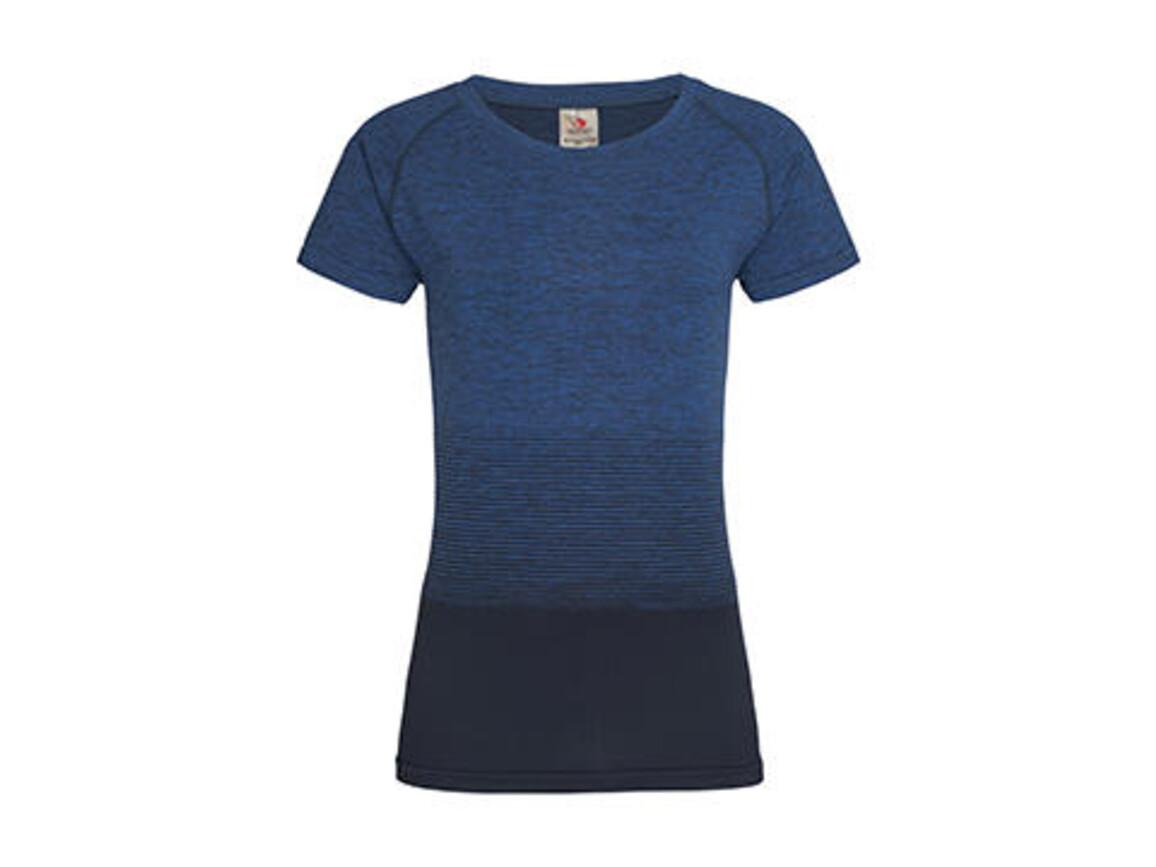 Stedman Active Seamless Raglan Flow Women, Blue Transition, XL bedrucken, Art.-Nr. 023053096