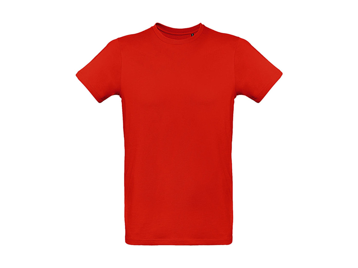 B & C Inspire Plus T /men T-Shirt, Fire Red, S bedrucken, Art.-Nr. 023424073